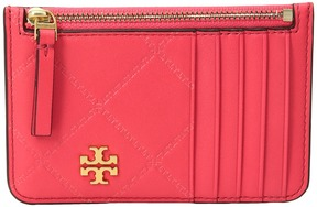 Tory Burch Georgia Top-Zip Card Case Credit card Wallet - BLACK - STYLE