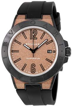 Bvlgari Diagono Magnesium Automatic Brown Dial Men's Watch