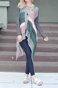 Double Zero Striped Cardigan