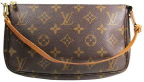 Louis Vuitton Pochette Accessoire cloth handbag - BROWN - STYLE