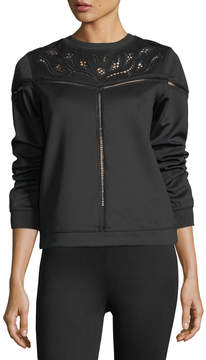 Dex Lace-Inset Pullover Sweatshirt