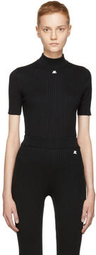 Courreges Black Mock Neck Pullover