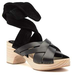 Free People Emmy Leather & Suede Wrap Clog