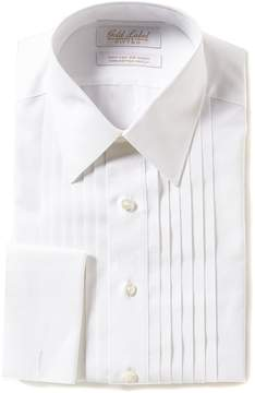 Roundtree & Yorke Gold Label Non-Iron Fitted Point-Collar Solid Tuxedo Shirt