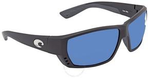 Costa del Mar Tuna Alley Blue Mirror Rectangular Sunglasses TA 11 OBMP