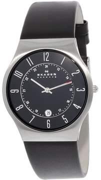 Skagen Men's Classic 233XXLSLB Black Leather Japanese Quartz Fashion Watch