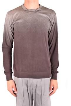 Armani Collezioni Men's Mcbi024257o Brown Cotton Sweater.
