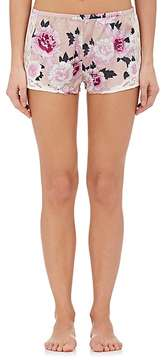 Fleur Du Mal Women's Charlotte Lace & Silk Satin Shorts