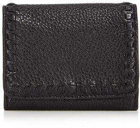 Rebecca Minkoff Vanity Mini Leather Wallet - BLACK/SILVER - STYLE