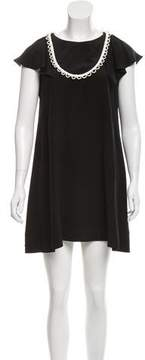 Cynthia Rowley Short Sleeve Silk Mini Dress