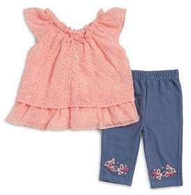 Little Lass Baby Girl's Two Piece Lace Crochet Set