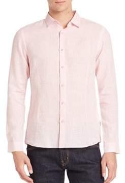 Orlebar Brown Morton Tailored Linen Button-Down Shirt