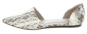 Jenni Kayne Embossed Pointed-Toe Flats