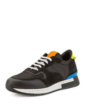 Givenchy Mixed-Media Colorblock Trainer Sneaker, Black Multicolor