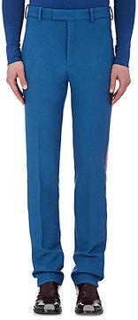 Calvin Klein Men's Stripe-Appliquéd Virgin Wool Trousers