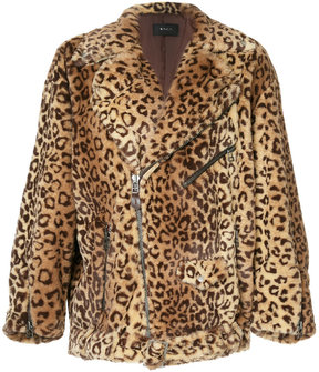 G.V.G.V. faux fur biker jacket