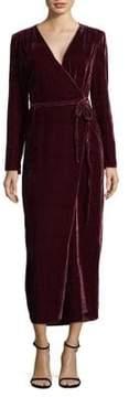 WAYF Velvet Wrap Dress