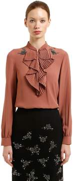 N°21 Embellished Crepe De Chine Blouse