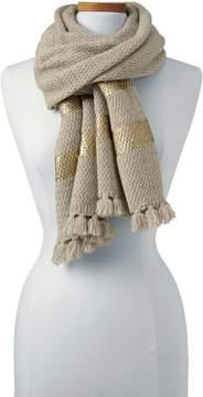 Lands' End Lands'end Women's Foil Print Knit Scarf