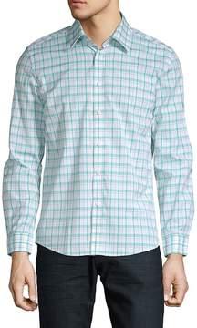 Hyden Yoo Men's Plaid Cotton Button-Down Shirt