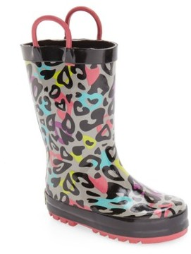 Western Chief Girl's 'Groovy Leopard' Rain Boot