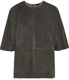 Joseph Dilys Suede T-shirt - Dark gray