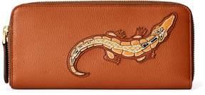 Ralph Lauren Crocodile Calf Zip Wallet