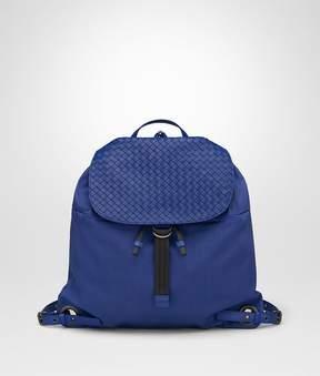 Bottega Veneta Cobalt Blue Canvas Backpack