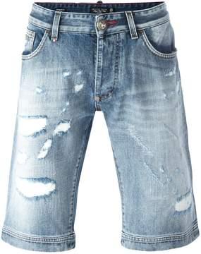 Philipp Plein Fake Friend denim shorts