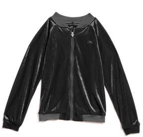 GUESS Velvet Zip-Up Sweater (7-16)