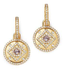 18K Yellow Gold Jemima Amethyst & Diamond Drop Earrings