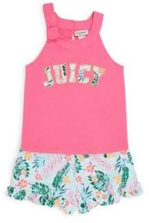 Juicy Couture Little Girl's Two-Piece Tropical-Print Top and Shorts Set