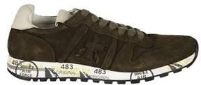 Premiata Men's Eric2376 Green Suede Sneakers.