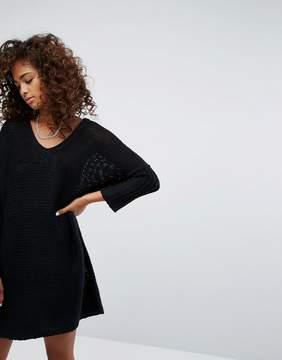 Noisy May V-Neck Knitted Dress