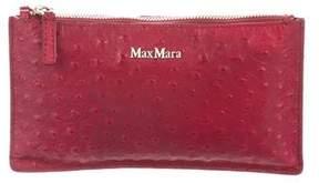 Max Mara Ostrich Zip Pouch