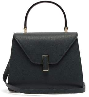 Valextra Iside Mini Grained Leather Bag - Womens - Dark Green