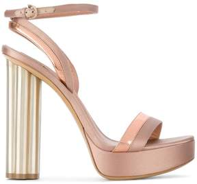 Salvatore Ferragamo flower heel sandals