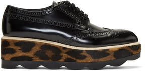Prada Black Wave Platform Brogues