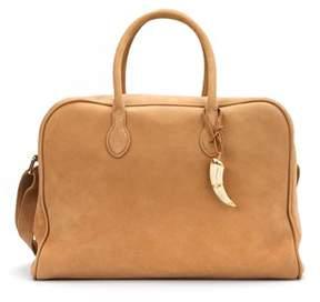 Balmain Women's Beige Suede Handbag.