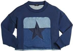 Diesel Cropped Cotton Sweatshirt