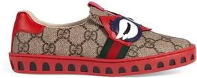 Gucci Children's GG Supreme sneaker with owl