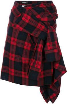 DSQUARED2 asymmetric tartan skirt