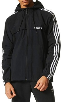 adidas Men's 3-Stripe Hooded Windbreaker