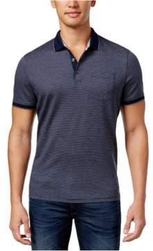 Michael Kors Fine Stripe Rugby Polo Shirt Blue M