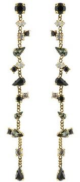 Erickson Beamon Long Multi Stone Earrings