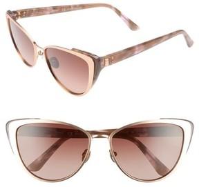Calvin Klein Women's 57Mm Cat Eye Sunglasses - Rose Gold