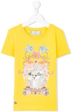 Philipp Plein Junior embellished rabbit T-shirt