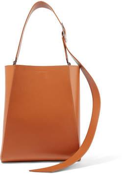 Calvin Klein Buck Stripe Medium Leather Shoulder Bag - Tan