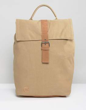 Mi-Pac Day Pack Canvas Fold Top Backpack in Sand