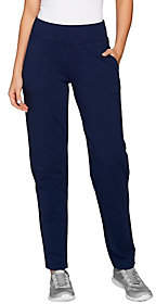 Denim & Co. Active Tall French Terry ContourWaistband Pants
